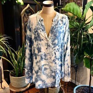 Cotton On Australia Chambray Tie dyed tunic top